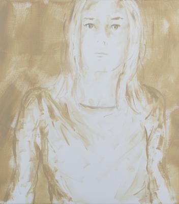 Alix Morel, Making sense #4, huile sur toile, 53 x45,5 cm