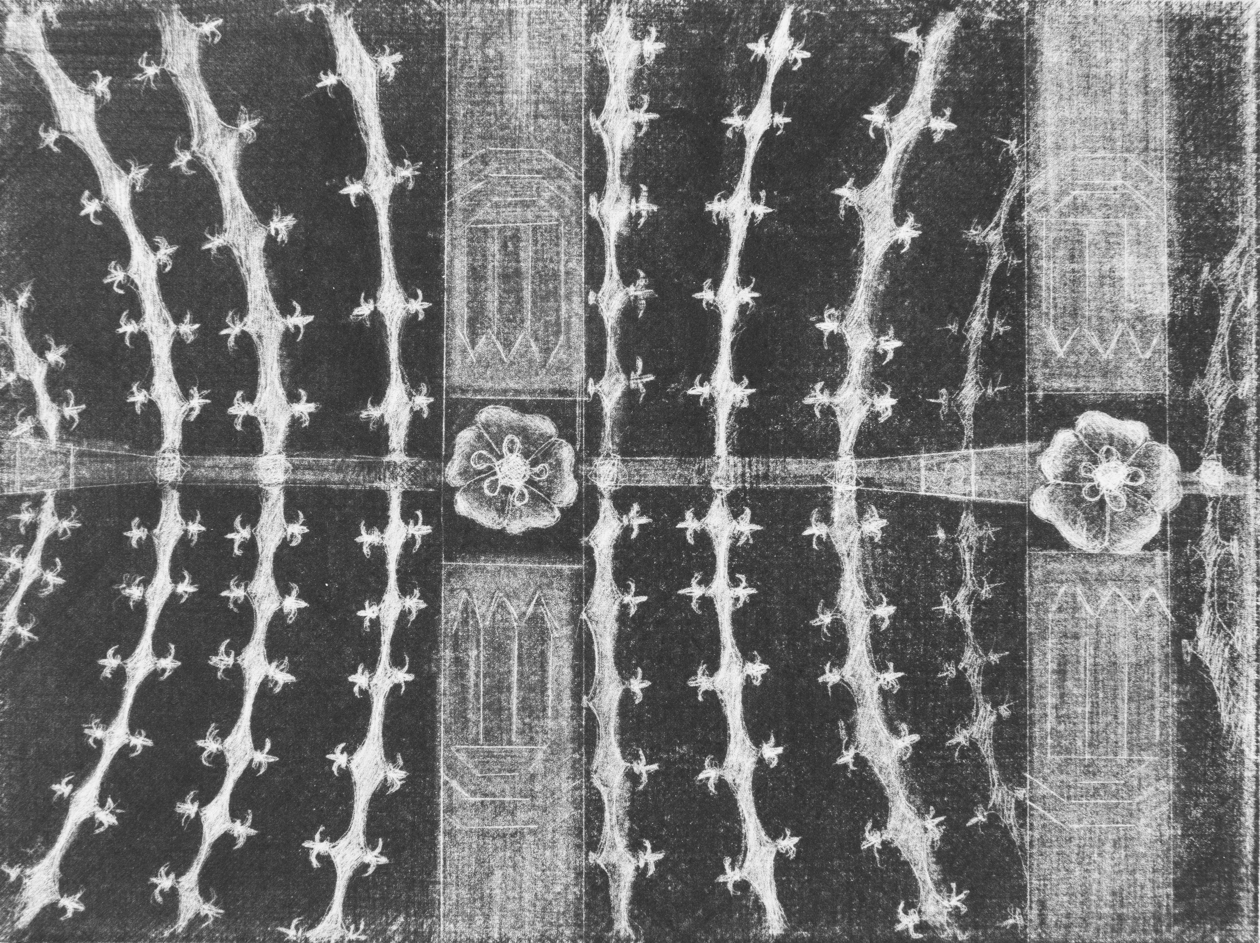 Architecture # 6, mezzotint, 20 x 15 cm, 2019