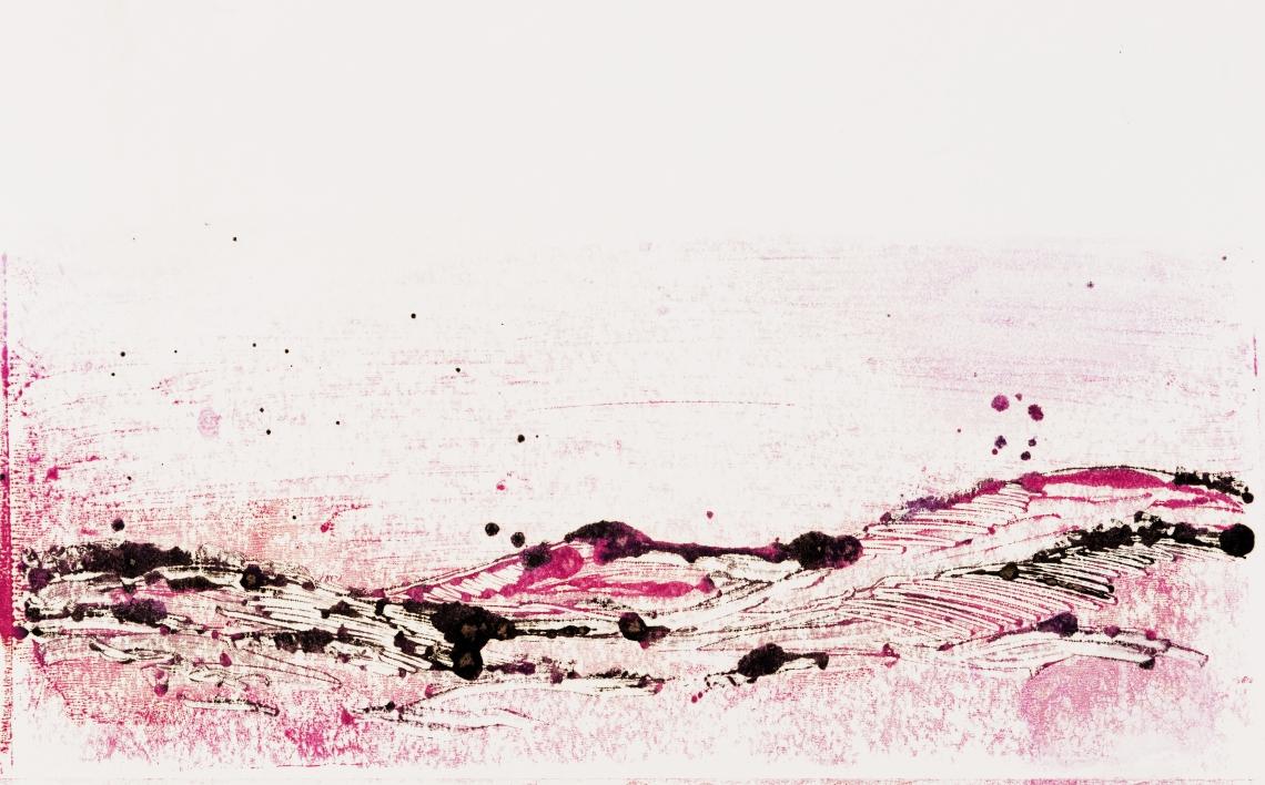 Landscape # 1, monotype on canson paper, 50 x 32 cm, 2019