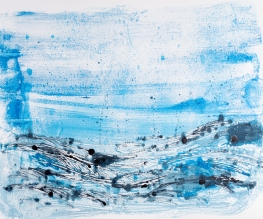 Landscape #5, monotype on Fabriano paper, 130 x 100 cm, 2019