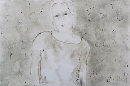Making sense #2, oil on canvas, 81 x 54 cm, 2018