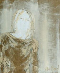 On the edge #1, oil on canvas, 73 x 60, 2018