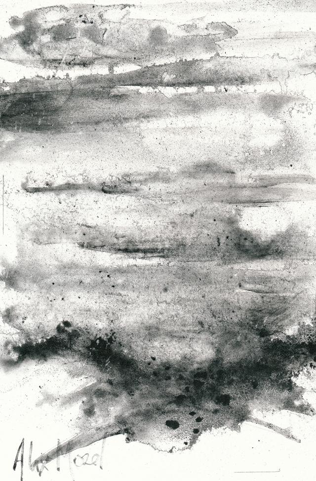 A #10, graphite powder on paper, 18x 26 cm, 2018